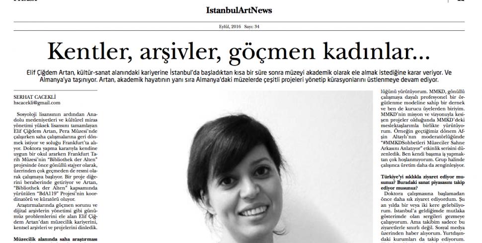 IAN ile röportaj: Kentler, arşivler, göçmen kadınlar…