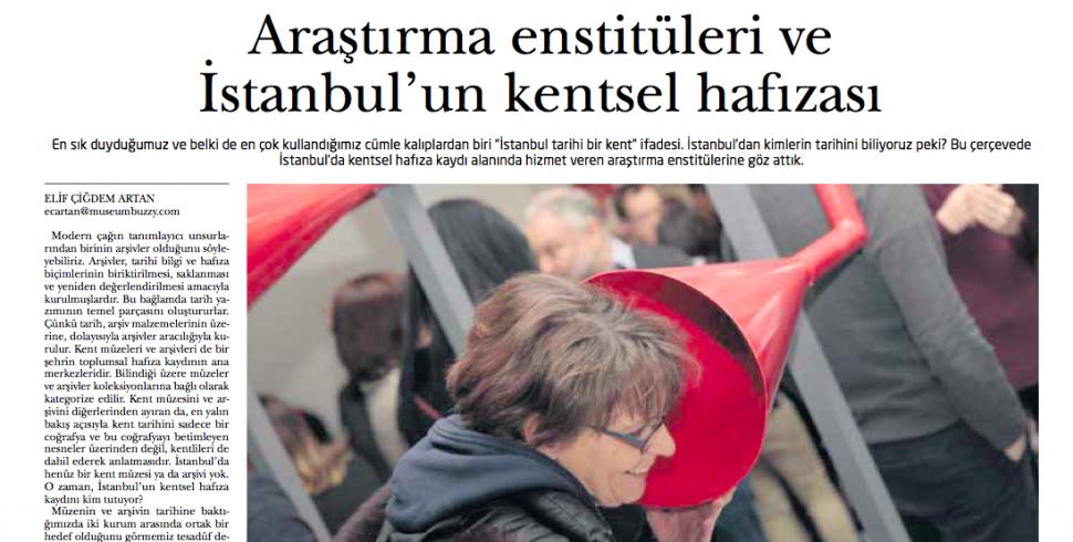 Araştırma enstitüleri ve İstanbul'un kentsel hafızası #IstanbulArtNews